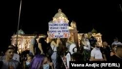 په سربیا کې د حکومت ضد مظاهرو یو انځور - د ۲۰۲۰ز د جولای نهمه