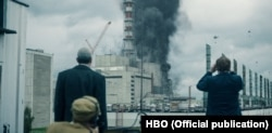 Кадр із серіалу «Чорнобиль»
