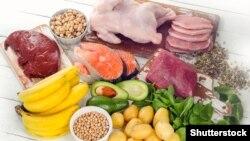 Харчовыя крыніцы вітаміну В6.