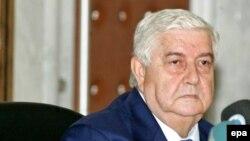 Шефот на сириската дипломатија Валид ал-Моалем.