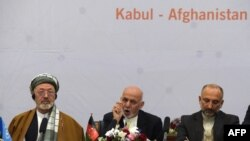 Авганистан-претседателот Ашраф Гани зборува на мировната конференција во Кабул,06.07.2017