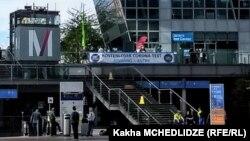 კორონავირუსის ტესტირების ცენტრი მიუნხენის აეროპორტში