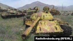 Підбита моджахедами радянська військова техніка