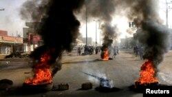 Pamje nga protestat në Sudan.