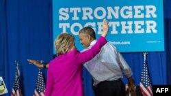 Гілларі Клінтон і Барак Обама
