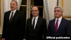 Ֆրանսիայի, Հայաստանի և Ադրբեջանի նախագահների հանդիպումը Փարիզում, 27-ը հոկտեմբերի, 2014թ.