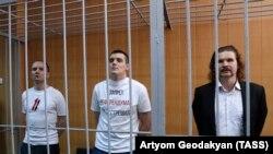 Кирилл Барабаш, Александр Соколов и Валерий Парфенов в суде