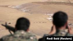 «نیروهای دموکراتیک سوریه» در نزدیکی شهر منبج