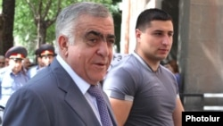 Armenia -- President Serzh Sarkisian's brother Aleksandr is seen outside the parliament building in Yerevan, 10 June, 2010.
