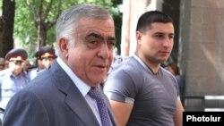 Armenia -- President Serzh Sarkisian's brother Aleksandr outside the parliament building in Yerevan, 10June 2010.