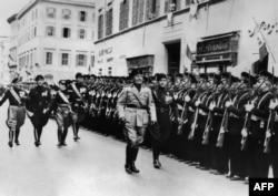 Італійський фашист Мусоліні у Римі, 1938 рік