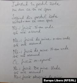 Din manuscrisele lui E. Cioclea (foto: E. Galaicu-Păun)