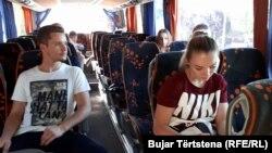 Karateistët e Kosovës duke u nisur drejt Novi Sadit