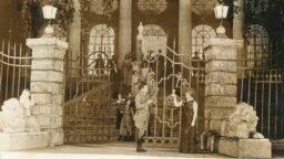 Сцэна зопэры «Упушчах Палесься» (кампазытар Анатоль Багатыроў). Ларыса Аляксеева— Караліна, Яўген Шаціхін— Вітольд.1939 год