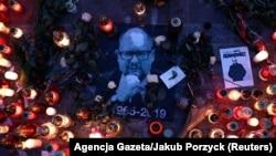 В Кракове почтили память Павла Адамовича, 19 января 2019 года