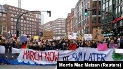 La protestul de astăzi la Hamburg