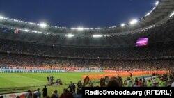Перед началом финального матча чемпионата Европы 2012 года в Киеве