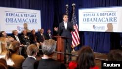 """Romney gjatë fushatës për revokimin e """"Obamacare"""""""
