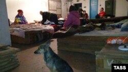 Жители Горловки укрываются от обстрелов в подвалах