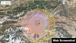 Акс аз сомонаи http://earthquaketrack.com