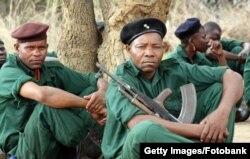 Бійці РЕНАМО, які воювали в Мозамбіку за підтримки режиму невизнаної Родезії