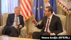 Kajl Skat i Aleksandar Vučić (arhivska fotografija)