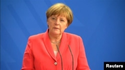 German Chancellor Angela Merkel has guided the bloc toward maintaining sanctions over Russia's occupation and seizure of Ukraine's Crimean Peninsula and its support for Russia-backed separatists in eastern Ukraine.