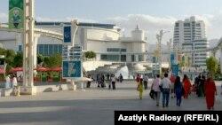 Halkara sport ýaryşlarynyň geçirilýän ýeri - olimpiýa şäherçesi, Aşgabat (arhiw suraty)