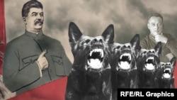 Иосиф Сталин и Сергей Миронов-Король, коллаж