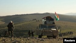 قوات البيشمركه الكردية في مناطق قرب الموصل