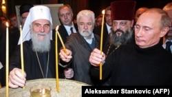 Патриарх Сербской православной церкви Ириней (слева) ранее назвал «узакониванием раскола» предоставление томоса ПЦУ