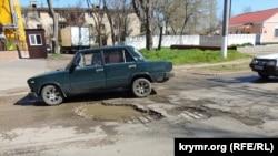 разбитые дороги в Керчи