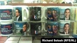 Портреты кандидтов в президенты США на чашках