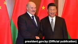 Аляксандар Лукашэнка і СіЦзіньпін, 2017