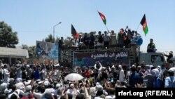 Protest više hiljada pripadnika etničke grupe Hazari, Kabul, 23. juli 2016.