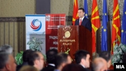 Обраќање на премиерот Никола Груевски на средба со бизнис заедницата и стопанските комори.