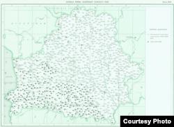 Дыялекталягічны атляс беларускае мовы. 1963. Мапа «Клічная форма назоўнікаў жаночага роду»