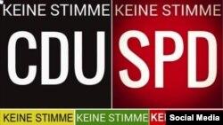 Propagandă contra altor partide răspîndită de susţinătorii AfD pe Facebook.