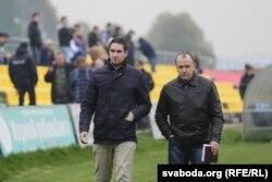 Дзяніс Шунто і Алег Дулуб (справа)