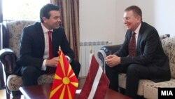 Mинистерот за надворешни работи на Латвија, Едгарс Ринкевичис во посета на Македонија.