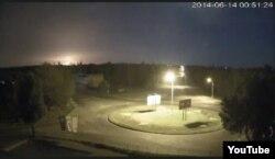 Катастрофа самолета в Луганске, кадр записи, сделанной камерой видеонаблюдения