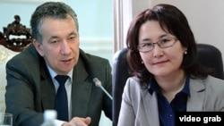 Фарид Ниязов жана Толгонай Стамалиева.