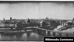 Панорама Парижа. Дагерротип Фридриха фон Мартенса. 1846