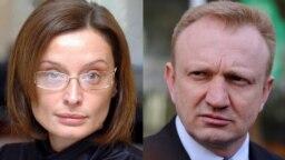 SERBIA -- A combo of Olivera Zekic (L) and Dragan Djilas