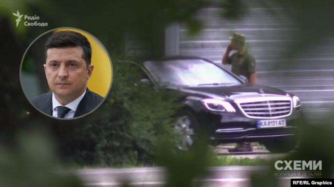 А близько 10-ї з території виїхав і кортеж президента Зеленського і попрямував у бік міста