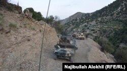 افغان ځواکونه په خوست کې د ګزمې پر مهال