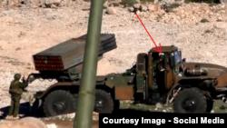 """Система залпового огня """"Град"""" и российские военные в Сирии."""