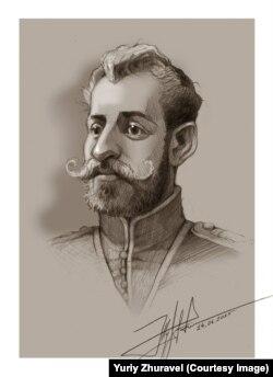 Петро Болбочан. Малюнок художника Юрія Журавля