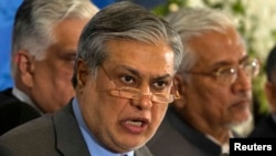 Pakistani Finance Minister Ishaq Dar (file photo)