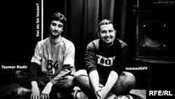 Азербайджанские рок-музыканты Теймур Надир (группа «Coldunya», на фото слева) и Рустам Мамедов (группа «Unformal»)